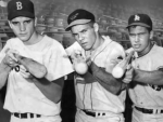 L-R, Tony Conigliaro, Ron Swoboda, and James Huenemeier.