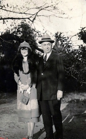 1919 World Series fixer with his second wife, circa 1925